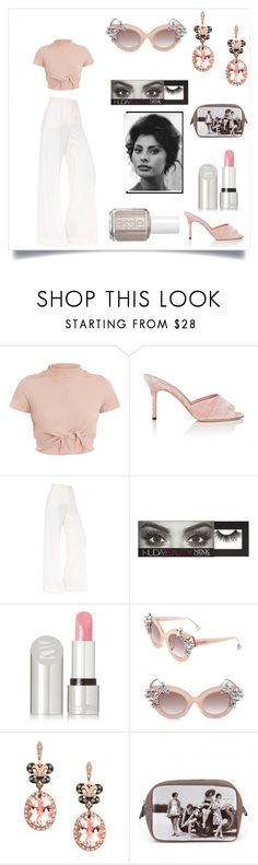 """Sophia Loren"" by alwaysdreaming16 ❤ liked on Polyvore featuring Manolo Blahnik, Dolce&Gabbana, Essie, Huda Beauty, Kjaer Weis, Alice + Olivia, Effy Jewelry and Catseye London"