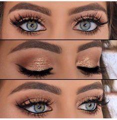 an-impressive-gold-smoky-eye-makeup-tutorial-step by step-gold-smoky-eye . - an-impressive-gold-smoky-eye-makeup-tutorial-step by …, - Makeup Geek Foiled Eyeshadow, Foil Eyeshadow, Gold Eye Makeup, Eye Makeup Steps, Smokey Eye Makeup, Makeup Tips, Makeup Ideas, Makeup Products, Makeup Tutorials
