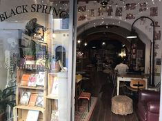 """""""Black Spring Bookshop"""" in Florence is a bookshop & a bar with a rotating gallery. My favorite pairing here is a good book and a glass of their local wine. Homemade Tea, Tea Cakes, Tuscany, Florence, Good Books, Relax, Wine, Bar, Drinks"""