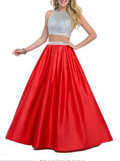 Emmani Women's Long Two Pieces Beads Special Formal Prom Dresses Red 28w. Main Fabric:Satin,Tulle. Occasion:Evening,Party,Prom,Celebrity,Evening,Banquet,Homecoming. Please note that the delivery date that you saw is automatically setted by Amazon system, usually it will cost about 10-15 days for you to get the beautiful dress.However if you need the dress less than 15 days, please choose expedite delivery and contact us in advance,then we will make the dress for you in priority for...