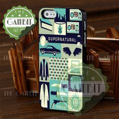 Movie Supernatural Collage - iPhone 4/4s/5/5S/5C Case - Samsung Galaxy S2/S3/S4 Case - Black or White by XGAMBITX on Etsy