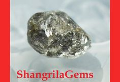 #shangrilagems #roughdiamonds 2.62ct 6.7mm Rough Diamond silver grey Conflict by ShangrilaGems