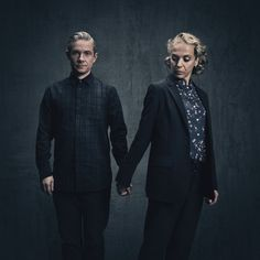 SHERLOCK (BBC) ~ Martin Freeman & Amanda Abbington S4 promo photo.