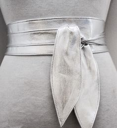A personal favourite from my Etsy shop https://www.etsy.com/uk/listing/276765992/silver-leather-obi-belt-silver-belt