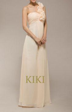 Pink/blush bridesmaid dress floor length sheath by KikiStory, $79.00