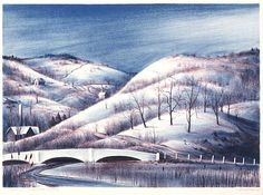 Connecticut Winter, 1937,Russell T. Limbach, color lithograph, 12 1/4 x 17 1/4 in. (31.1 x 43.8 cm), Smithsonian American Art Museum, Gift of the artist, 1967.70.3
