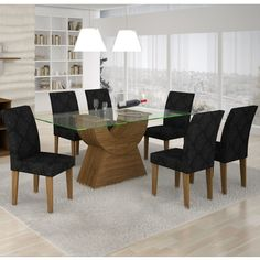 Dining Room Table Decor, Dining Chairs, Black Kitchen Decor, Black Kitchens, Dinner Table, Malta, Table Decorations, America, Furniture