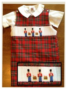 Smocked longall for boys by Four Girly Girls