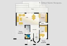 Casa cu etaj 10   Proiecte de case personalizate   Arhitect Gabriel Georgescu & Echipa Architectural House Plans, Kerala House Design, Kerala Houses, Case, Floor Plans, Construction, How To Plan, Trendy Tree, Template