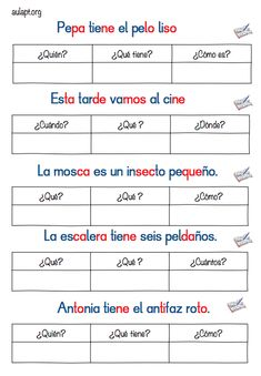 Spanish Worksheets, Spanish Teaching Resources, Spanish Language Learning, Speech Language Therapy, Speech And Language, Learning Quotes, Learning Activities, Spanish Lessons For Kids, Learn Spanish
