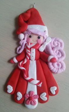 Handcrafted Polymer Clay Whimsical Winter girl by EllasEnchantments on Etsy!