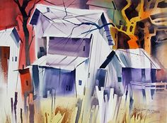 Just Plain Funky by sterling edwards Watercolor ~ 22 x 30
