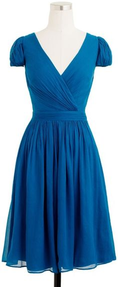 J Crew Mirabelle Dress in Casablanca blue.  Not trying to get ahead, but can't help thinking about styles to compliment your perfect dress = )