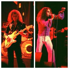 """primitiveman-ancientwoman: """"Ritchie Blackmore and Ronnie James Dio of Rainbow """""""