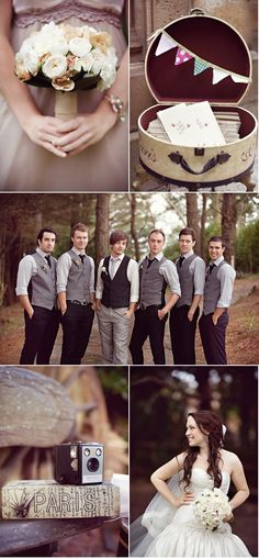 @Jes Brouwer you said you liked vests, i like that the groom stands out, but they all have vests