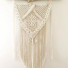 Almost lost count at how many of this style I've made but I've managed to make each one a little different. This ones heading #north #macrame #wallart #goldcoast #modernmacrame #vintage #cotton #wallart #bohostyle #handmade #homedecor #beachlife