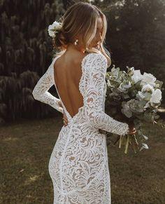 Long Sleeve Wedding, Long Wedding Dresses, Bridal Dresses, Wedding Gowns, Lace Back Wedding Dress, Mermaid Wedding Dress With Sleeves, Backless Wedding, Perfect Wedding Dress, Mermaid Dresses