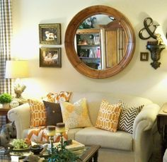 A Stroll Thru Life: Tangerine For Summer Color In The Family Room