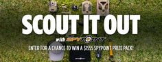 SCOUT IT OUT! Wholesale Sports--Spypoint Contest Enter for a chance to win a $1,550 prize package of assorted Spypoint products like an action camera, a trail camera, a hat, a multi-tool and more!