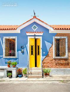 A minha casa e sua fachada colorida