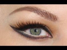 Sophia Loren Tutorial. Make-up for round eyes.