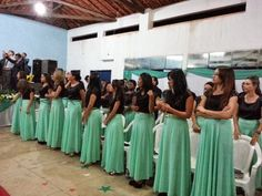 Modelos de fardas para Grupos Evangélicos: Modelo de Farda com Saia Longa