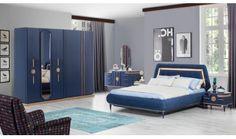 Bellisima Bedroom Set Navy Blue - Home Decor Bedroom Cupboard Designs, Kids Bedroom Designs, Bedroom Cupboards, Luxury Bedroom Design, Interior Design, Home Decor Furniture, Furniture Design, Navy Blue Bedrooms, Luxurious Bedrooms
