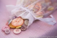 Pastel coloured buttons are great to add vintage touches and accessories. www.fuschiadesigns.co.uk