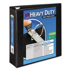 "Heavy-Duty View Binder W/locking 1-Touch Ezd Rings, 3"" Cap, Black"