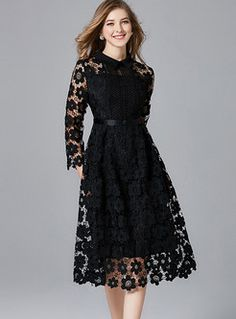 Black Lapel Hollow Out Plus Size Lace Dress : Black Lapel Hollow Out Plus Size Lace Dress Plus Size Lace Dress, Lace Dress Black, Plus Size Dresses, Dress Lace, Lace Dresses, Hippie Dresses, Trendy Dresses, Elegant Dresses, Beautiful Dresses