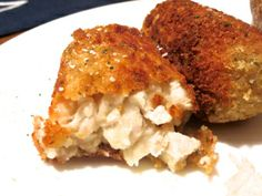 (Add poultry season)Chicken Croquettes // this is seriously melt in your mouth chicken // special occasion meal // date night recipe Turkey Croquettes, Chicken Croquettes, Croquettes Recipe, Beignets, Turkey Recipes, Chicken Recipes, Dinner Recipes, Dinner Ideas, Chicken Meals