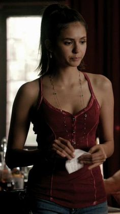 Wish I could find this in red somewhere!! Elena Gilbert and Guess Lily Henley Tank