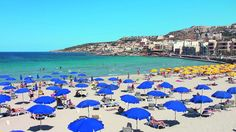 Mellieha Bay #beautiful #sunny day! Do you want to enjoy the #sea and the #sun here?