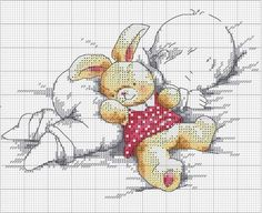 Please Share00000Free Birth Sampler Chart Stitch this sweet birth sampler of baby with teddy bear as a gift or for a family member.  This is a free chart with color key included below. Happy Stitching! Please Share00000