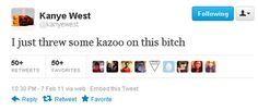 <b>As he will happily tell you, Kanye is a genius.</b>
