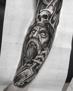 Posseidon Tattoo, Hades Tattoo, Zeus Tattoo, God Tattoos, Forarm Tattoos, Forearm Tattoo Men, Body Art Tattoos, Tattoos For Guys, Tatoos