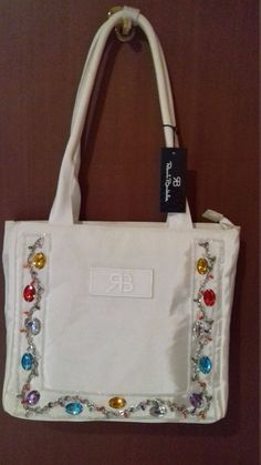 Vintage 90s  Renato Balestra Handbag Shoulder bag bags & purses Ice White Shoulder Bag (ORIGINAL HY6662) Monograme RB ( New With Tags ) by AlternativeByGeorge on Etsy