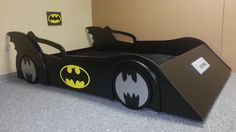 Batman car bed $699.99 with Matress, Sheets, and pillows included