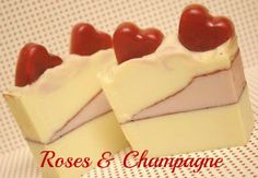 I'd Lather Be Soaping: Valentine's Day Soap: Roses and Champagne