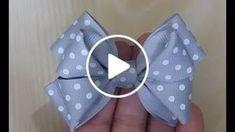Pinwheel bow or clip Ribbon Hair Bows, Diy Hair Bows, Diy Bow, Diy Ribbon, Ribbon Bow Tutorial, Hair Bow Tutorial, Bottle Cap Necklace, Wie Macht Man, Making Hair Bows