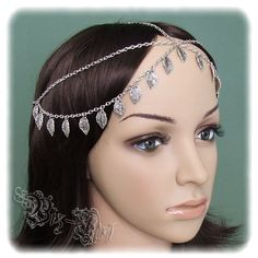 medieval gyspy headresses | Gypsy Head Piece Bohemian Double Chain Headband Renaissance Medieval ...