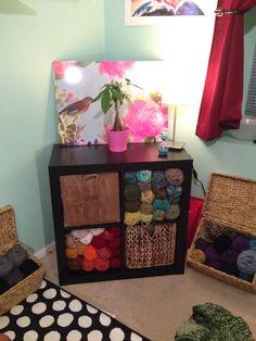 DIY yarn storage from Ikea
