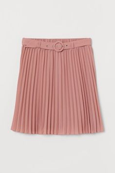 Belted pleated skirt - Old rose - Ladies | H&M GB 4 Girly Girl Outfits, Old Rose, Fall Wardrobe, Fashion Company, Neue Trends, World Of Fashion, Lady, Pleated Skirt, Personal Style