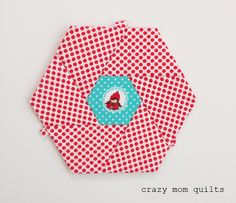 crazy mom quilts: focus quilt with link to purchase the EPP templates.