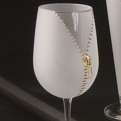 This unique zippered wine glass is a great conversation piece on any occasion, a real show stopper. #LGLimitlessDesign& #Contest