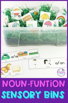 You know those days you're scrambling for an engaging hands-on activity that goes along with your lesson? Rather than scouring your shelves or rushing to find a resource that requires lengthy assembly, check out my noun-function sensory bins! Speech Activities, Language Activities, Hands On Activities, Fall Sensory Bin, Sensory Bins, Language Lessons, Speech And Language, Can You Find It, Prepositional Phrases