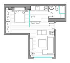Мадридская квартира в 40 м² – Красивые квартиры