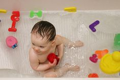 Rub-a-dub-dub little man in the tub.You Make Bath Time Lots of Fun
