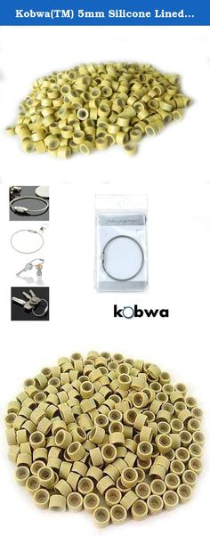 Kobwa(TM) 5mm Silicone Lined Micro Rings Links Beads Linkies For I bonded Tipped Hair Extensions -Blonde Color with Keyring. The product made by silicone and aluminum,humanized design. Interior of the ring is gentle on the hair with its protective, cushioned silicone lining, allowing you to install them flatter to the head for maximum comfort to the client, and allowing them to remain undetectable. It holds human hair very tightly after pinched and it will not easily get slide when…