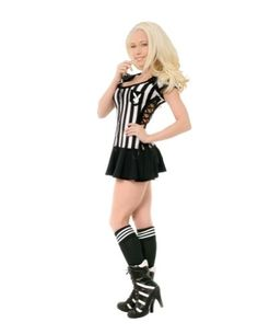 Adult Playboy Racy Referee Lg Halloween Costume fits adults large. hand wash or spot clean with a damp cloth. search through all our womens Halloween costumes and theater items.  #DISC0UNTST0RE #Apparel